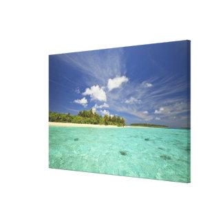 Vista de la isla de Funadoo de Funadovilligilli Impresiones En Lona