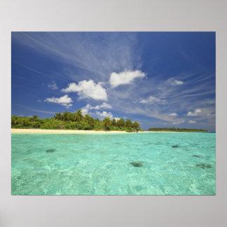 Vista de la isla de Funadoo de Funadovilligilli Póster