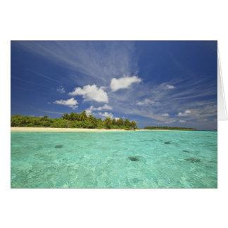 Vista de la isla de Funadoo de Funadovilligilli Tarjeta De Felicitación