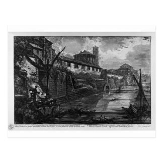 Vista de la isla de Tíber de Juan Battista Pira Tarjetas Postales