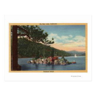 Vista de la isla del tesoro postal