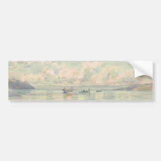 Vista de la laca Leman, François Bocion Pegatina Para Auto