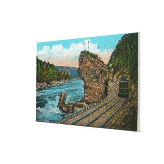 Vista de la línea gigante de la roca y de carretil impresiones de lienzo