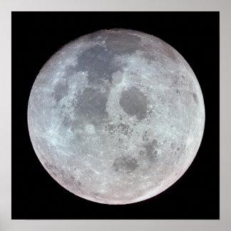 Vista de la luna de Apolo 11 Póster