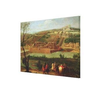 Vista de la máquina margosa impresiones de lienzo