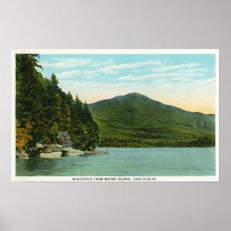 Vista de la montaña de Whiteface de la isla de los Póster