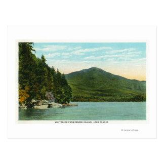 Vista de la montaña de Whiteface de la isla de los Postales
