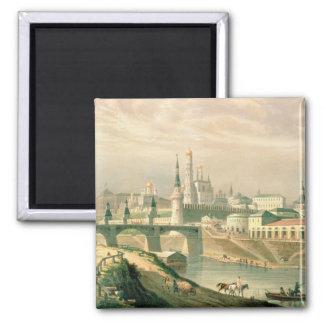 Vista de la Moscú el Kremlin, 1830 Imán Cuadrado