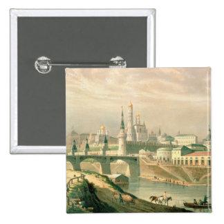 Vista de la Moscú el Kremlin, 1830 Pin Cuadrada 5 Cm