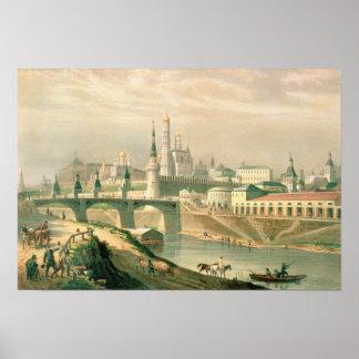 Vista de la Moscú el Kremlin, 1830 Póster