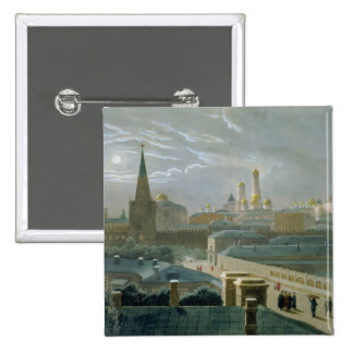 Vista de la Moscú el Kremlin, 1840's Pin Cuadrada 5 Cm