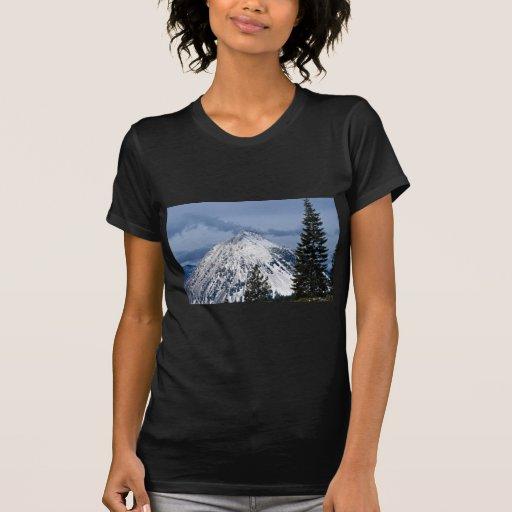 Vista de la mota negra de Mt. Shasta, California, Playera