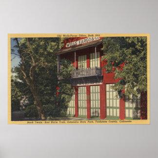 Vista de la oficina vieja de Wells Fargo (1855) Poster