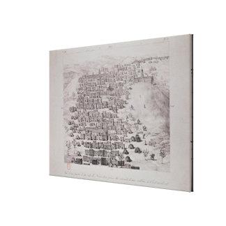 Vista de la parte de la ciudad de Tombuctú de una  Impresión En Lona Estirada