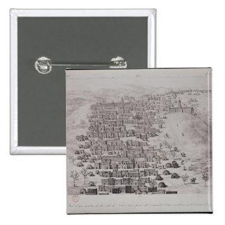 Vista de la parte de la ciudad de Tombuctú de una  Pin Cuadrada 5 Cm