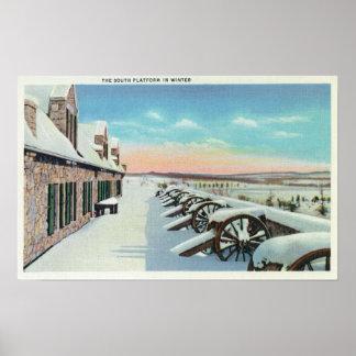 Vista de la plataforma del sur en invierno posters