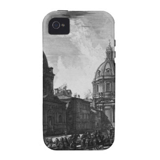 Vista de la plaza Navona en las ruinas iPhone 4/4S Carcasas