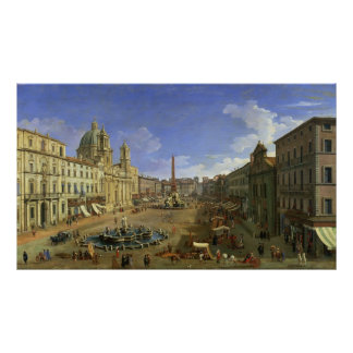 Vista de la plaza Navona, Roma Impresiones