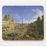 Vista de la plaza Navona, Roma Alfombrillas De Ratones