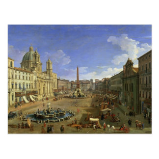 Vista de la plaza Navona, Roma Tarjetas Postales