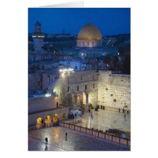 Vista de la plaza occidental de la pared, última t tarjeta de felicitación
