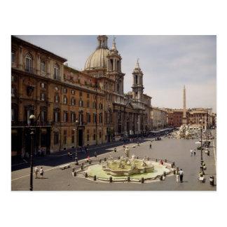 Vista de la plaza tarjeta postal