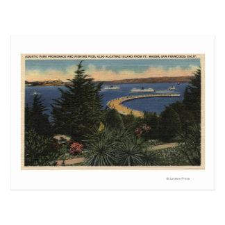 "Vista de la ""promenade"" y del embarcadero tarjeta postal"