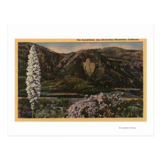 Vista de la punta de flecha - San Bernardino Mts., Tarjeta Postal