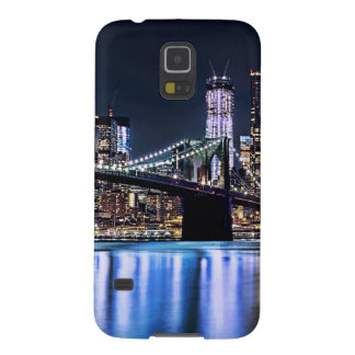 Vista de la reflexión del puente de Brooklyn de Nu Carcasa De Galaxy S5