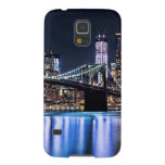Vista de la reflexión del puente de Brooklyn de Nu Funda De Galaxy S5