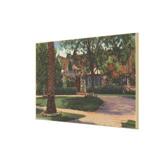 Vista de la residencia de Eleanor Powell Impresiones En Lona Estiradas