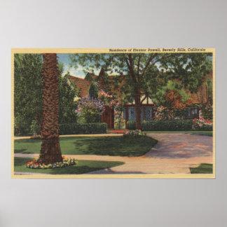 Vista de la residencia de Eleanor Powell Posters