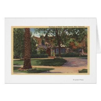Vista de la residencia de Eleanor Powell Felicitacion