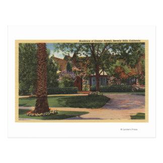 Vista de la residencia de Eleanor Powell Tarjetas Postales