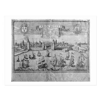 Vista de La Rochelle, firmada por Jollain (grabado Tarjetas Postales