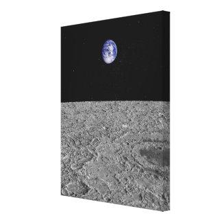 Vista de la tierra de la luna impresiones en lienzo estiradas