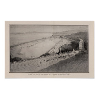 Vista de la tierra de taladro propuesta posters