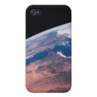 Vista de la tierra del espacio iPhone 4 funda