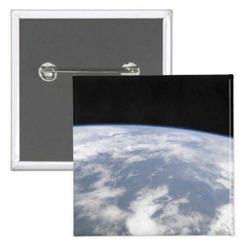 Vista de la tierra del planeta del espacio pin cuadrada 5 cm