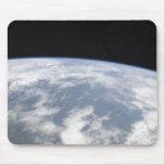 Vista de la tierra del planeta del espacio tapete de ratones