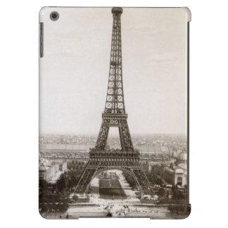 Vista de la torre Eiffel, 1900 Funda Para iPad Air