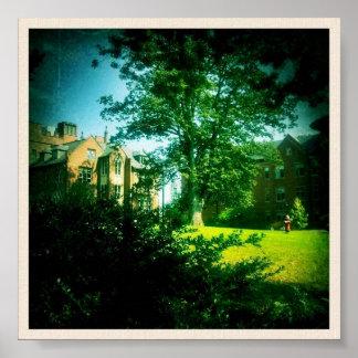 Vista de la universidad del Monte Holyoke Póster