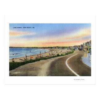 Vista de las arenas largas en la playa de York Postales