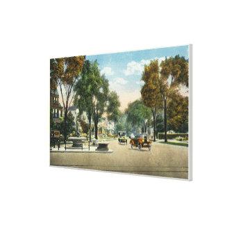 Vista de las avenidas del parque y de Fairfield Lienzo Envuelto Para Galerias