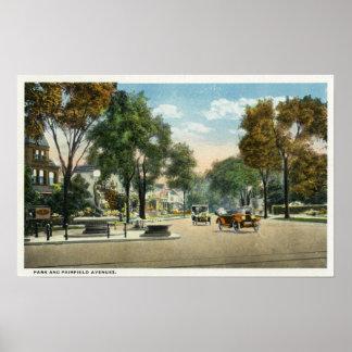 Vista de las avenidas del parque y de Fairfield Impresiones