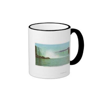 Vista de las caídas de herradura tazas de café