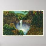 Vista de las caídas de Taughannock, 215 pies de al Poster
