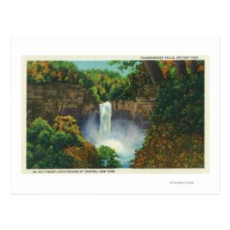 Vista de las caídas de Taughannock, 215 pies de Postal
