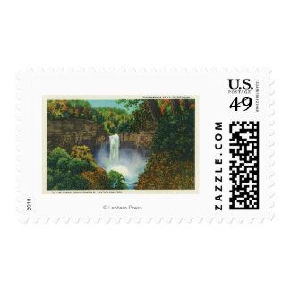 Vista de las caídas de Taughannock, 215 pies de Timbres Postales