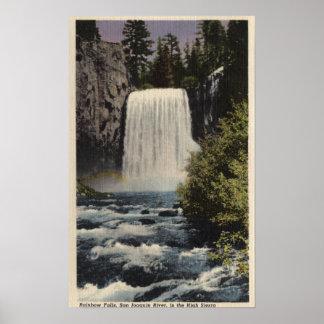 Vista de las caídas del río San Joaquin y del arco Poster
